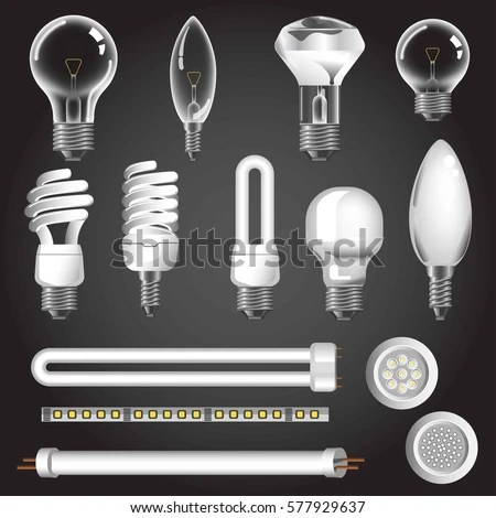 Led Tube Light Bulbs Clip Art Cliparts