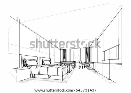 Interior Design Drawings Perspective