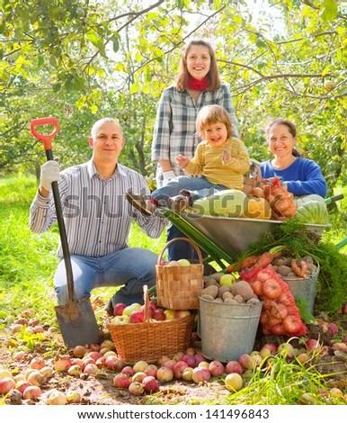 People Gardening Vegetables