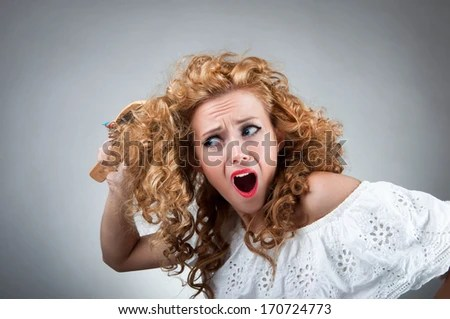 frizzy hair stock photos images pictures shutterstock