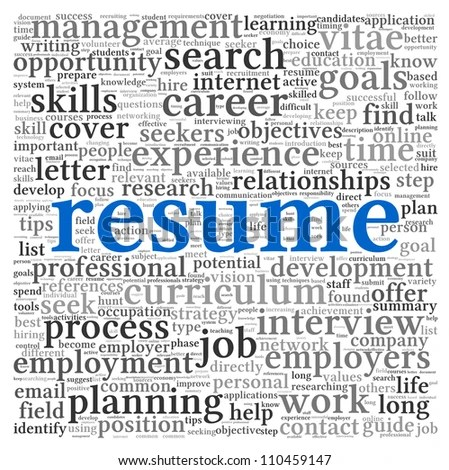 resume workshop clip art resume concept in word tag