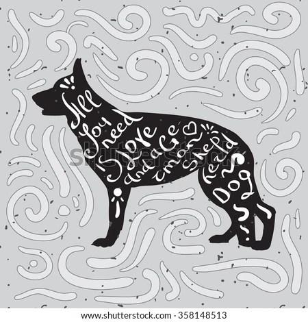 Download German Shepherd Stock Vectors & Vector Clip Art | Shutterstock