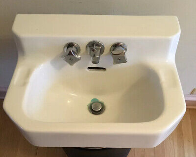sink nos vintage briggs wall mount lavatory industrial white sink quality made us 20 home furniture diy