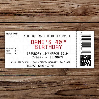 celebrations occasions personalised 30th birthday party tickets invitationsperforatedrose gold home furniture diy itkart org