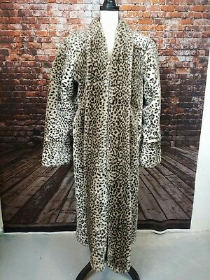 Fur coat long   Zeppy io Monterey fashions leopard print faux fur long sleeve over coat jacket  womens sm