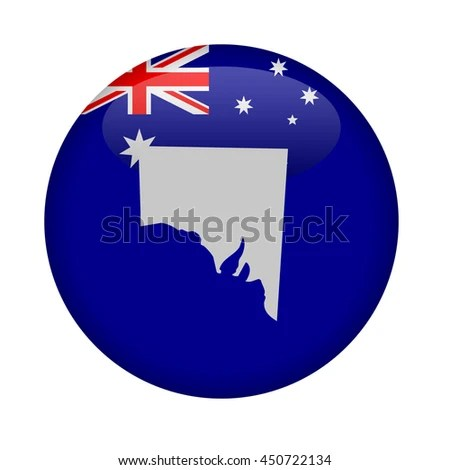 State Southern Australia Map Button On Stock Illustration 450722134     State of Southern Australia map button on a white background