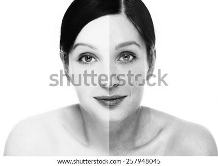 woman beautiful healthy long hair skin stock photo shutterstock