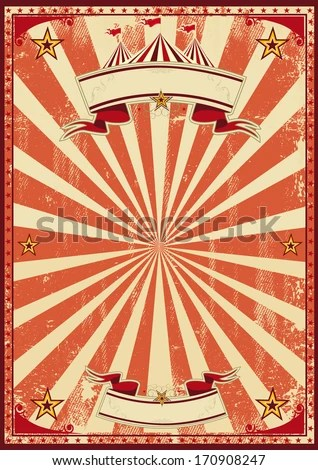 Red Vintage Circus Background Poster Stock Vector
