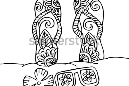 Collection Of Gucci Flip Flops Coloring Pages High Quality Flop Drawing At GetDrawings How To Draw Shoes Warderobe Easy Step By