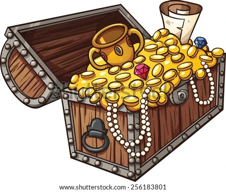 cartoon treasure chest coloring pages