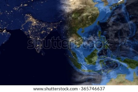 earth map showing day and night » Full HD MAPS Locations - Another ...