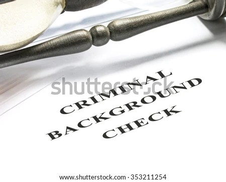Criminal Background Check Application Form Hourglass Stock Photo     Criminal background check application form with hourglass on background