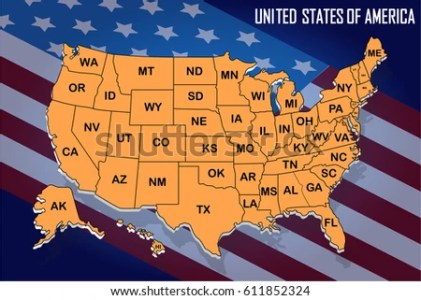 Printable Map Of The United States With State Names  Printable Hair     poster map of united states of america with state names on the flag  background orange with printable map of the united states with state names