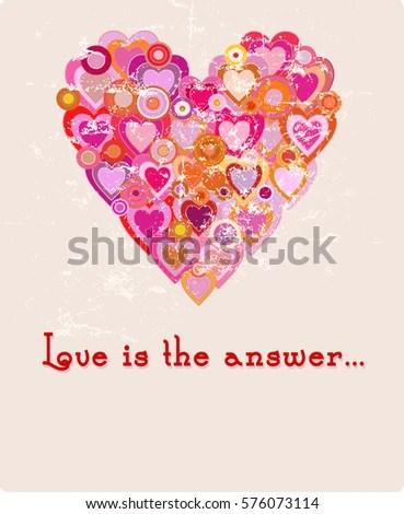 Valentines Day Love Design Templatefree Copy Stock Vector