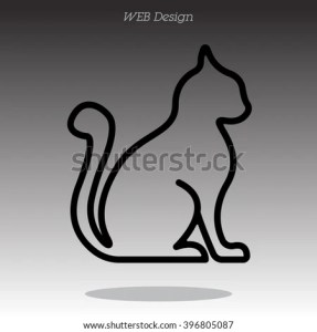 Web Line Icon Silhouette Cats Cat Stock Vector 396805087   Shutterstock Silhouette of cats  cat