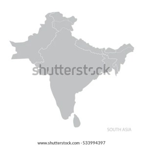 Map South Asia Vector Stock Vector  Royalty Free  533994397     Map of South Asia  Vector