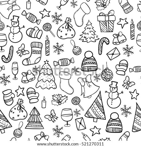 Christmas Doodles Stock Images Royalty Free Images