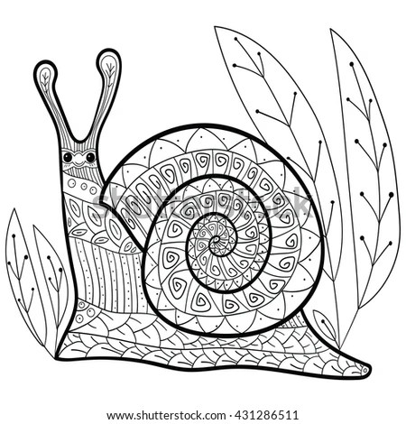 cute snail coloring page stock photos royalty free images