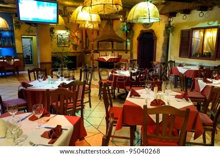 Italian Restaurant Stock Photos Images Amp Pictures