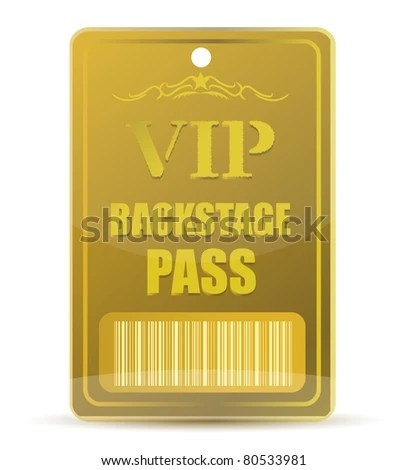 Free Backstage Pass Template  free backstage pass template