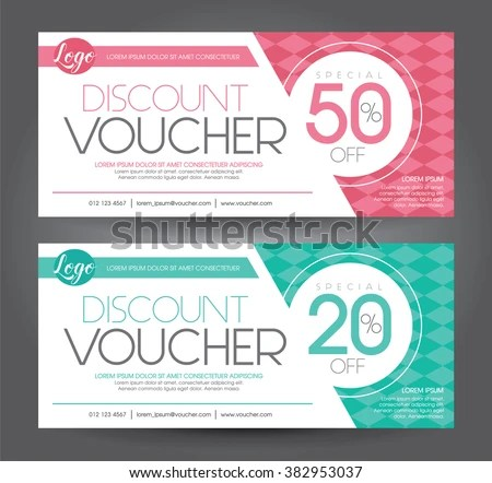 Vector Illustration Discount Voucher Template Clean Stock