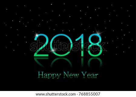 2018 Happy New Year Background Color Stock Vector  Royalty Free     2018   Happy new year background with color text and white snowflakes