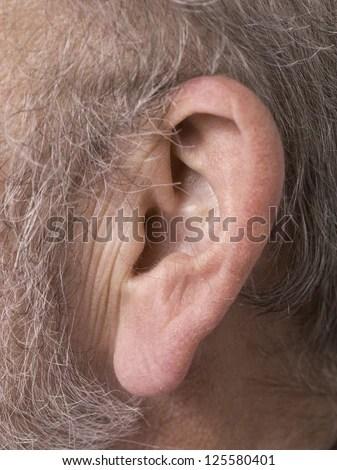 Macro Image Mens Ear Earring Stock Photo 124320838