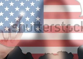 HD Decor Images » Asian Business Lady Pushing USA Flag Stock Illustration 83293039     Asian business lady pushing USA flag map