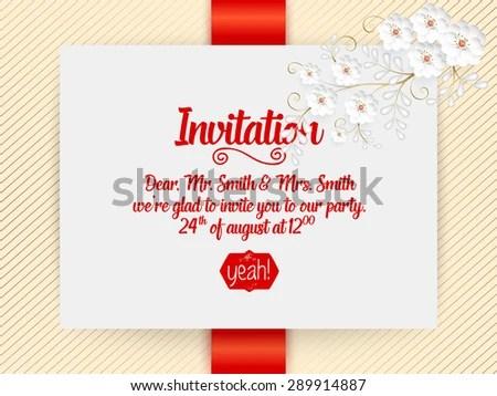 Wedding Invitation Card Vector Invitation Card Stock