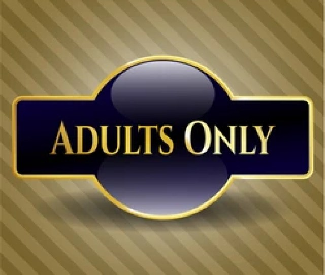 Free Adults Only Gold Badge Or Emblem