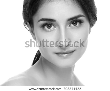 beauty portrait young girl natural makeup stock photo shutterstock