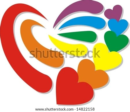 Download Rainbow Chinese Love Symbol Stock Vector 14823013 ...