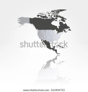 US States Map Against Background North Stock Vector 163404725     U S  states map against the background of north america with the shadow  vector