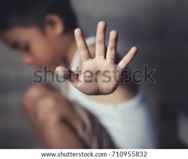 Stop The Violence Abusing In Children And Abused Concept