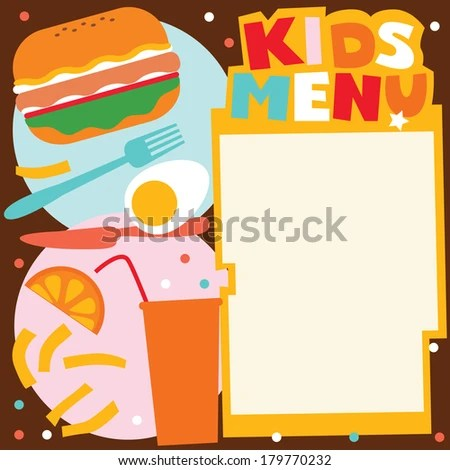 Doc600392 Sample Kids Menu Template Sample Kids Menu Template – Menu Templates for Kids