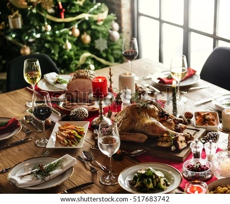 Christmas Dinner Table Stock Images Royalty Free Images