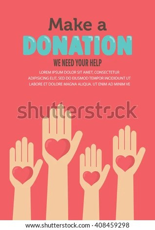 Give Share Your Love Poor People Stock Vector 408459298