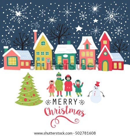 Merry Christmas Greeting Card Poster Background Stock