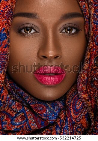Nubian Queen Natural Makeup Stock Photo Royalty Free