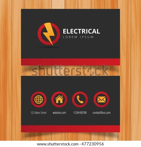 Electric cards letternew business cards online free electrical services templates colourmoves