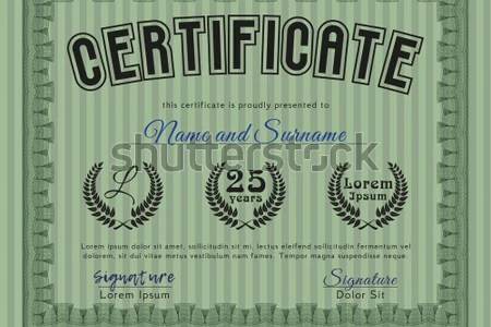 Green Diploma T Green Certificate Template Diploma Stock Vector     Green Diploma tGreen Certificate template or diploma template  With  background  Sophisticated design  Vector