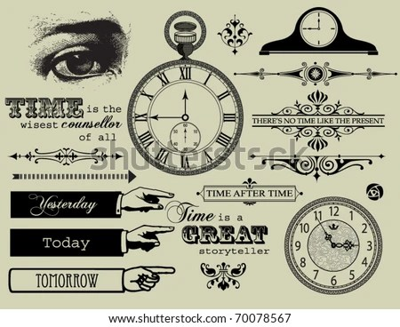 Design elements - Time Collection - stock vector