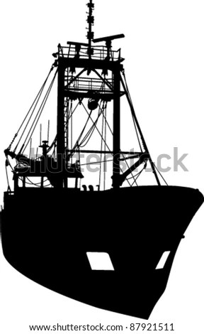 Fishing Boat Silhouette Stock Images Royalty Free Images