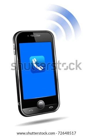 Mobile phone connection technology concept on white background - stock vector