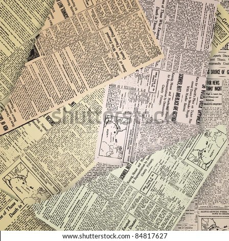 abstract old newspaper vintage background - stock vector
