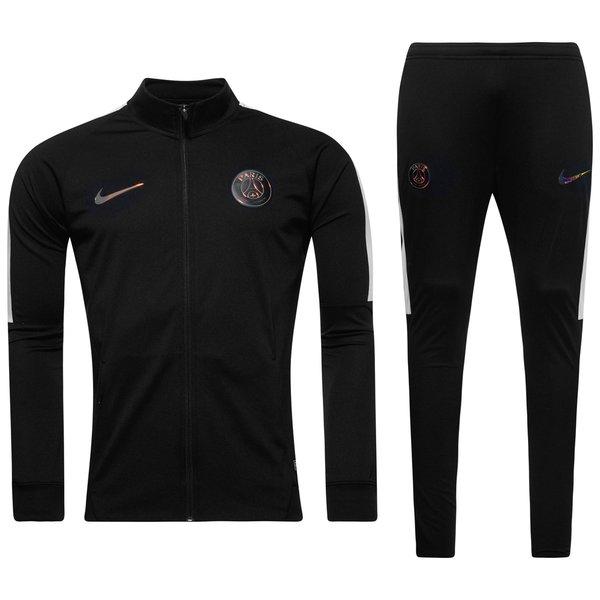 paris saint germain trainingsanzug dry squad knit schwarz weiss