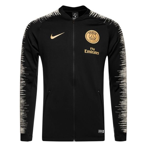 paris saint germain training jacket anthem black light bone truly gold kids