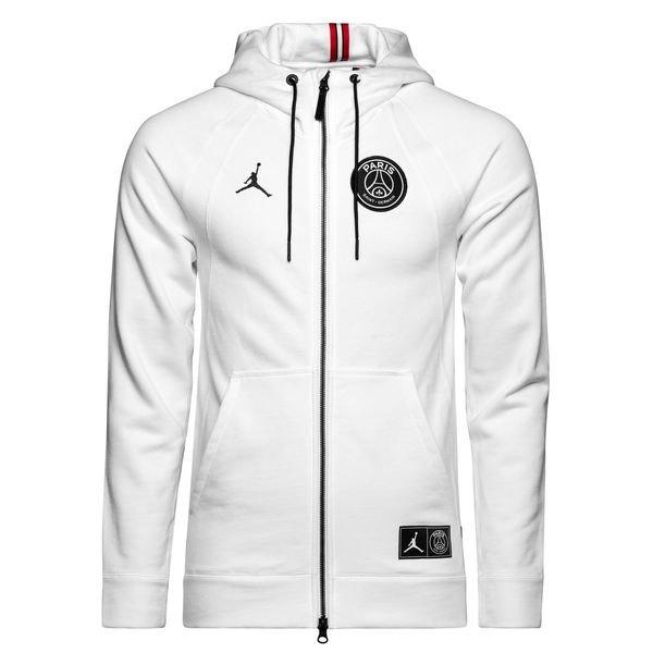 nike hoodie fz jordan x psg weiss limited edition