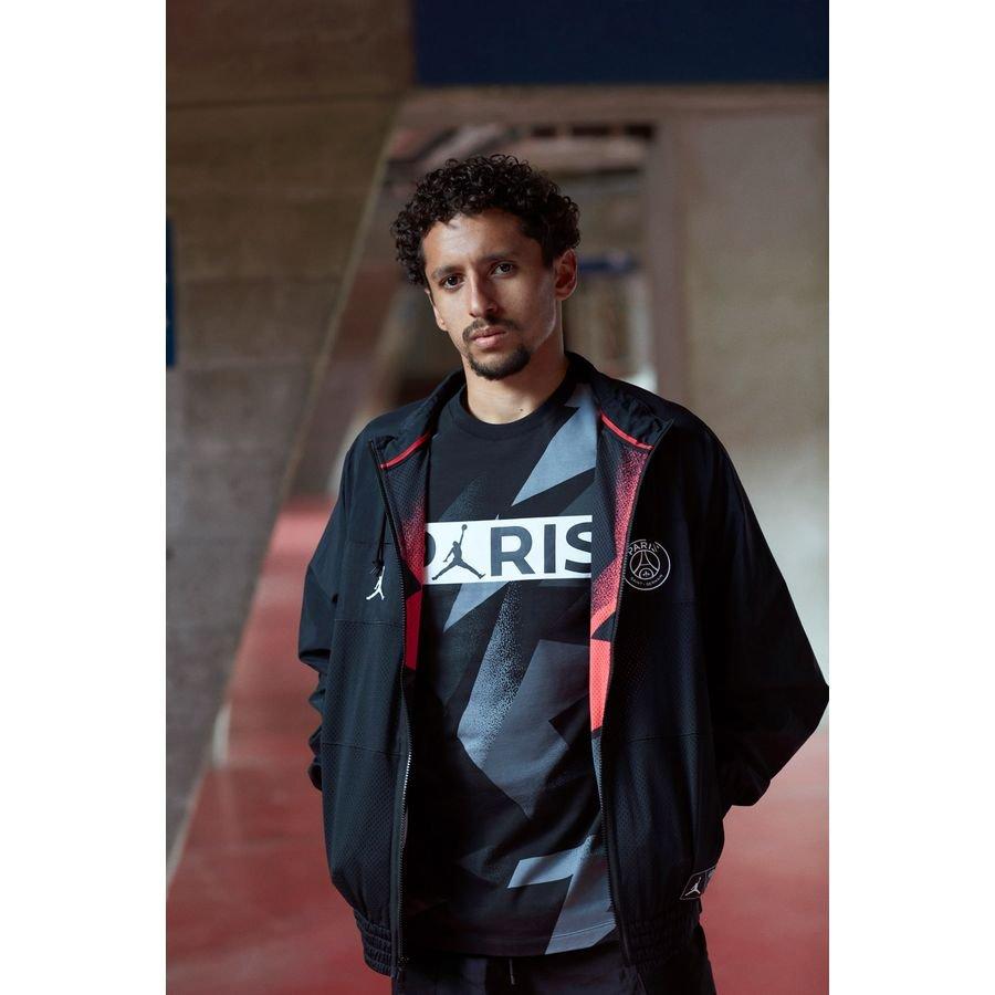 nike track jacket jordan x psg black limited edition