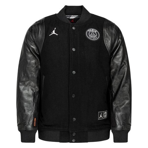 nike varsity jacket jordan x psg black white limited edition